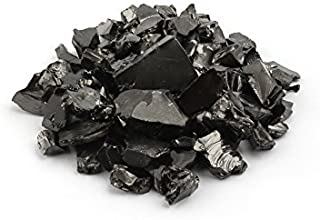 Shungite Elite Stones for Water Purification, 100 g of Silvery Shine Raw Elite Noble Shungite Detoxification Stones for Water Filtering   Natural and Authentic Nuggets from Karelia, Russia   100 g