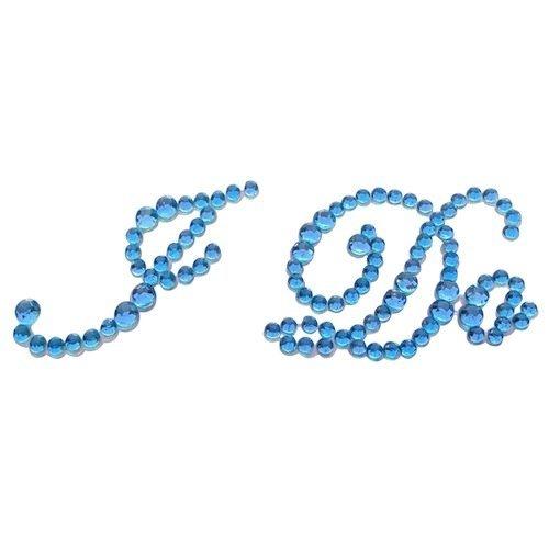 Pegatinas decorativas SKIDDOO de diamantes de imitación azules con el texto «I...