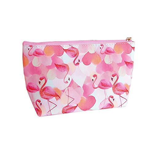Chakil Mignon Animal Flamingo Trousse De Maquillage Paresseux Pratique Sac Cosmétique Sac De Rangement Cosmétique Sac De Voyage Multifonction Size 21 * 12 * 7cm