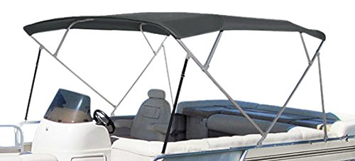 SUMMERSET by Eevelle Premium Bimini 4 Bow Canvas Top, 96 x 103-Inch, Charcoal