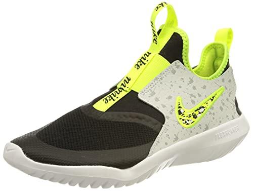 Nike Flex Runner Play (GS), Zapatillas para Correr, Black Volt Photon Dust White, 37.5 EU