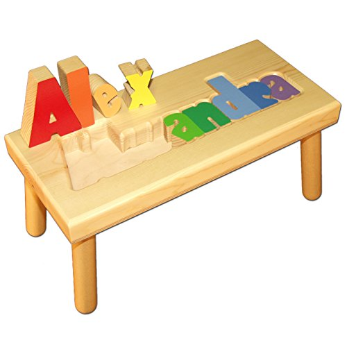 Personalized Wooden Robots Step Stool