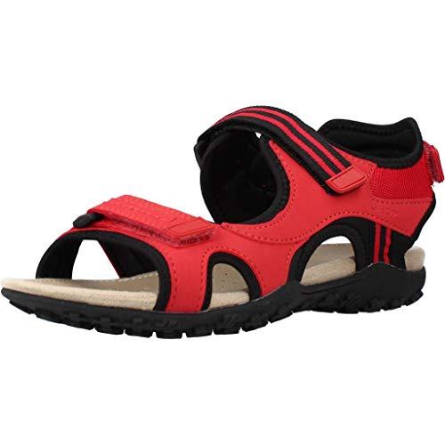 Geox Damen Sandalen Donna Sandal STREL, Frauen Trekking Sandalen, Outdoor-Sandale Sport-Sandale sommerschuh Damen Frauen weibliche,RED,38 EU / 5 UK