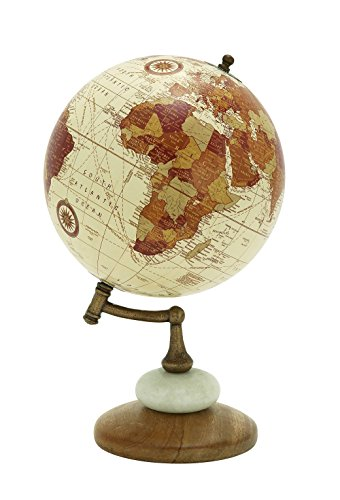 Deco 79 94451 Wood Metal Marble Globe, 8' x 13'