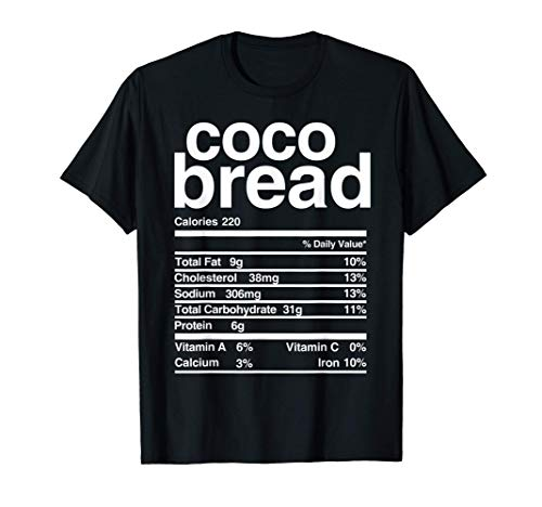 Jamaican Coco Bread Nutritional Value T-Shirt