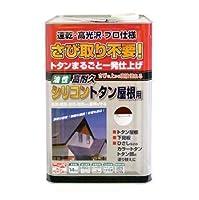ニッペ 高耐久シリコン配合 高耐久シリコントタン屋根用 14kg モスグリーン L
