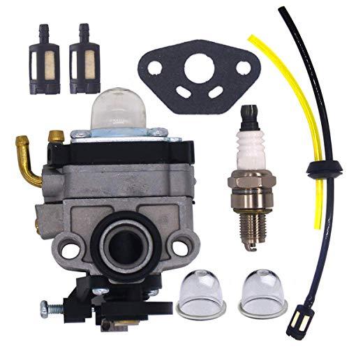Hippotech 16100-ZM5-803 Vergaser mit Kraftstoffleitungssatz für Honda 4-Takt-Motor GX31 GX22 FG100 16100-ZM5-803 Vergaser