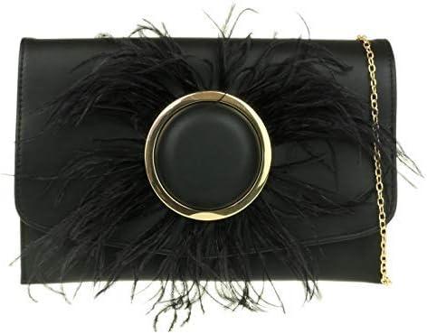 Girly Handbags Fluffy Button Clutch Bag