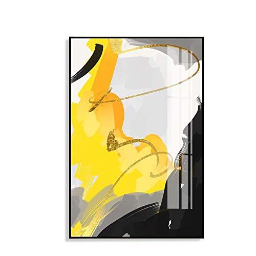 Líneas abstractas modulares Paisaje Lienzo Pintura Enmarcado Carteles Imprimir Moderno Arte de la pared Sala de estar Restaurante Sofá Fondo Decoración para el hogar Imágenes 40x60cm
