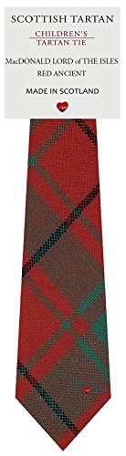I Luv Ltd Garçon Tout Cravate en Laine Tissé et Fabriqué en Ecosse à MacDonald Lord Of The Isles Red Ancient Tartan
