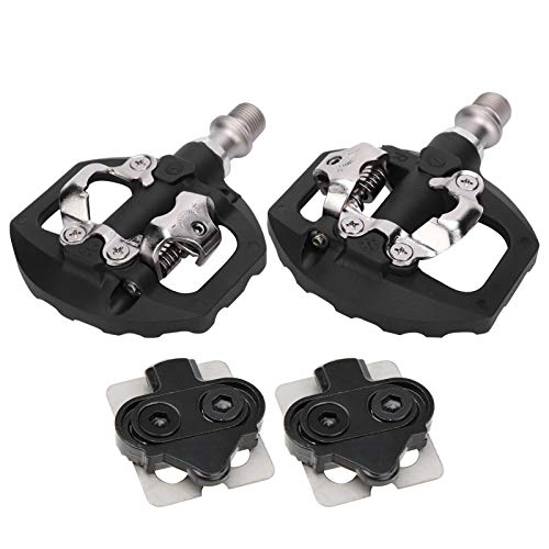 DAUERHAFT 1Pair Bicycle Lock Pedal,Skid Resistance Bike Self‑Locking Footrest Cycling Equipment Combination Kit,For Mountain Bike, Road Bike And Folding Bike