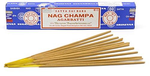 Nag Champa Räucherstäbchen, Weihrauch, 15 g – Original aus Indien, 1 boite