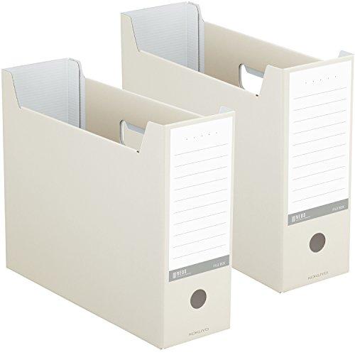 コクヨ ファイル ファイルボックス NEOS A4 2個セット オフホワイト A4-NELF-WX2