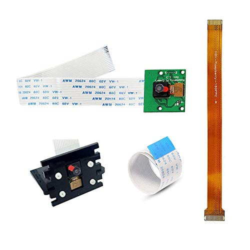 Oak-Pine Camera Kit - 5MP OV5647 1080P for Pi Model A,B,B+,2,3B with Adapter Cable for Zero,Zero W and Camera Stand
