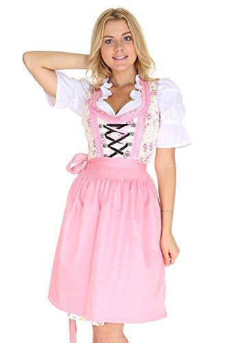 Bavarian Clothes Vestido tradicional tirols 5013 para mujer, con blusa tirolesa y delantal, 3 piezas, tamao: B5013 46