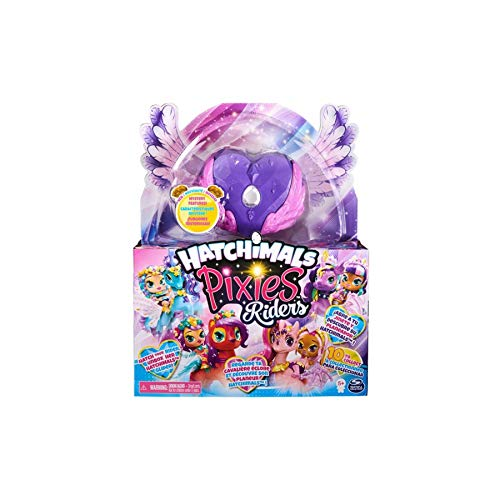 Juego de hatchimal compatible con Toy Galaxy Pixies Riders con función misteriosa juguetes de hadas voladores para niñas de 3 años en adelante, repuesto de purpurina negra para Hatchimals