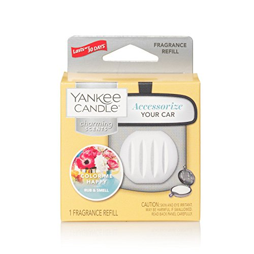 Yankee Candle Charming Scents Car Air Freshener Refill, Color Me Happy
