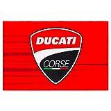 Ducati Corse 2020 Racing Team MotoGP Zubehör Flagge Tasche Tasse Aufkleber Geschenk, Fan-Flagge (140 x 90 cm)
