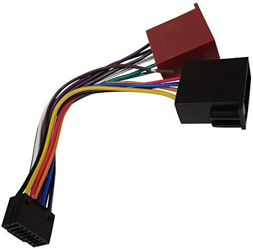 Aerzetix - Fascio adattatore cavo cablaggio convertitore spina ISO per autoradio .