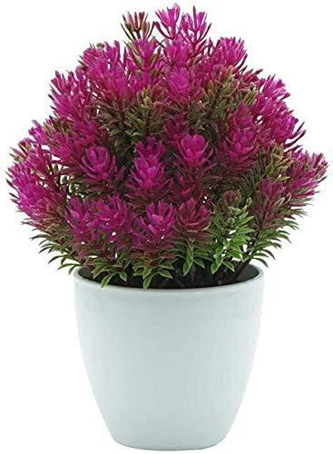 Preisvergleich Produktbild LJYY Künstliche Zedernpflanzen im Topf - Mini Art Bonsai,  Kunststoff Kiefer Topf Blumen Bonsai Kunstraum Büro Küche Party Party Hochzeit (Farbe: Farben)