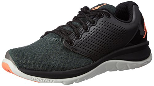 Nike 854562-012, Scarpe da Basket Uomo, Nero, Arancione Chiaro (Bright Mango), Verde (Grove Green), 40 EU
