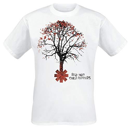 Red Hot Chili Peppers Higher Ground Männer T-Shirt weiß M 100% Baumwolle Band-Merch, Bands