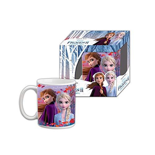 Eiskönigin 2 Tasse 250ml , kompatibel zu Disney, Frozen 2 II , für Kinder mit ELSA und Anna | Geschenk | Glas | Tasse | Trinkbecher | Becher | Kind | Mädchen