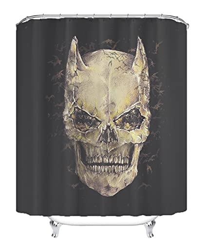 YITUOMO Nationalheld Batman Duschvorhang Polyesterfaser 3D Badvorhang wasserdichter Schimmel Vorhang Anime Charaktere 180x200cm