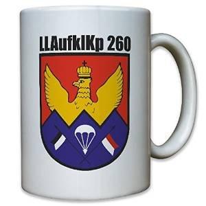 LLAufklKp 260 Zweibrücken Luftlandeaufklärungskompanie 260 Kompanie Einheit Bataillon Fallschirmspringer Heeresaufklärungstruppe Bundeswehr BW Wappen Abzeichen Emblem - Tasse Kaffee Becher #10823