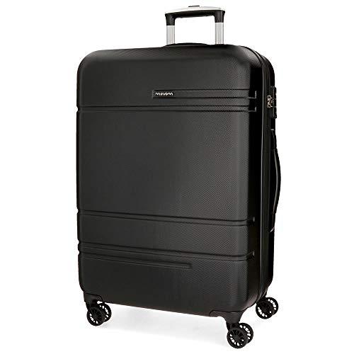 Movom Galaxy Maleta mediana Negro 49x69x27 cms Rígida ABS Cierre TSA 72L 3,8Kgs 4 Ruedas Dobles Extensible