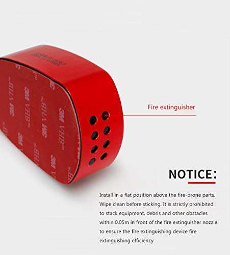 EBCO Automatic fire extinguisher sticker fit car engine home electric meter box refrigerator gas fire extinguisher sticker