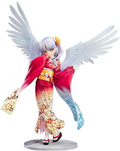 SYunxiang 19cm Anime Figure Angel Beats Tachibana Kanade Kimono Figuras de acción Kimono Ver.Figura de acción de la Estatua de PVC Anime Figura Inicio Decoración de Interiores Adornos