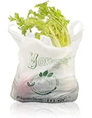 Palucart® scatolo da 500 shopper biodegradabili compostabili a norma 2018 (30+10+10x60)