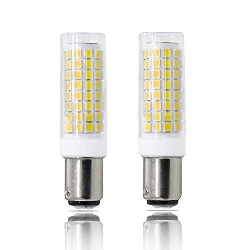 BA15D LED, All-New(102LEDs) Dimmable BA15D Bulb, Double Contact Bayonet Base, 7W White BA15D Bulbs (75W Halogen Bulbs Equivalent), T3 T4 360 Degree Beam Angle