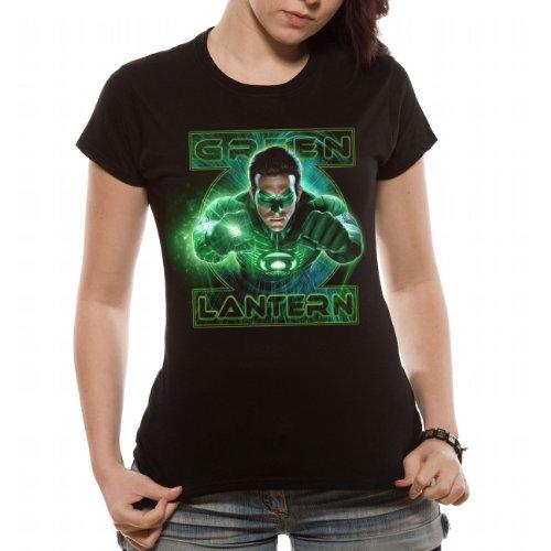 Green Lantern Damen T-Shirt, Gr. Large, Schwarz