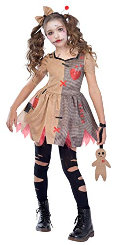 amscan 9903418 - Disfraz de muñeca de vudú (6-8...