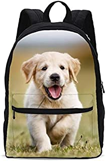 KiuLoam Puppy Dog Kids School Backpack 17 Inch Bookbag Teens Shoulder Travel Bag Rucksack for Boys Girls Back to School