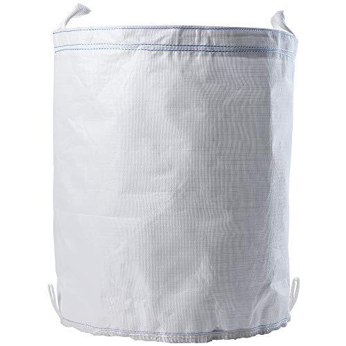 KADAX Sack für Gartenmüll, 270L, Gartensack mit Griffen, Gartenmüllbeutel aus robusten Polypropylen, Gartenabfallsack bis zu 150 kg, Müllsack (Weiß)
