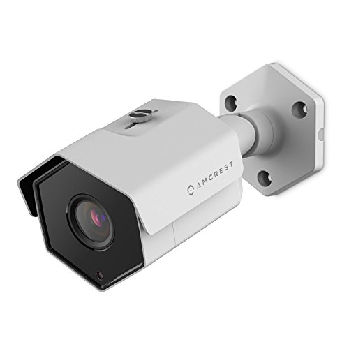 Amcrest 5MP Outdoor PoE Camera, ProHD Security IP Bullet Camera, 2.8mm Lens, 104° Wide Viewing Angle, IP67 Weatherproof, 98ft Night Vision, Cloud/NVR Recording, IP5M-1173EW-28MM (White)