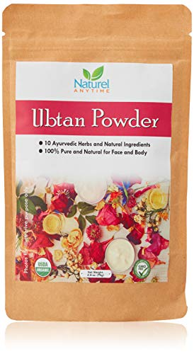 Sandalwood Powder – Organic(USDA,GMP, CPS Reports certified in UK/EU) Rose Petals, Red Sandalwood, Turmeric, Barley and other(check full listing) for clearer and glowing skin.