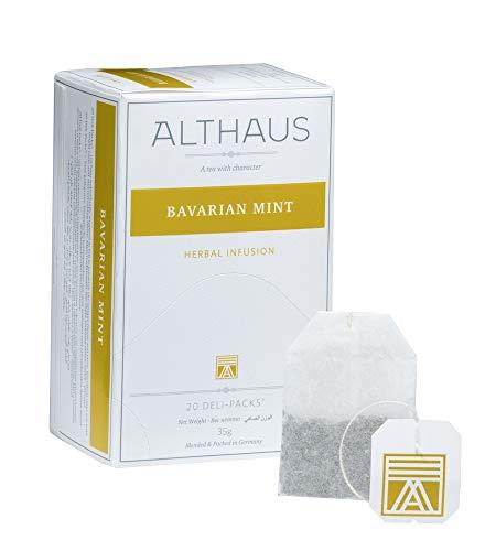 Althaus Deli Pack Bavarian Mint 20 x 1,75g ⋅ Pfefferminztee im klassischen Teeaufgussbeutel