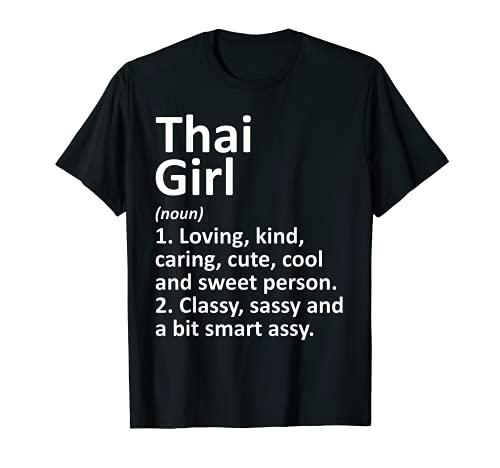 Regalo divertido de Tailandia para niña tailandesa Camiseta