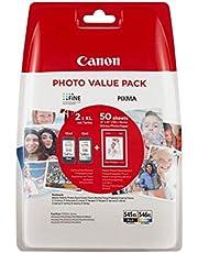 Canon 8286B006 PG-545XL/CL-546XL Wkłady Atramentowe do Drukarek z Papierem Fotograficznym, CMYK, 1 Zestaw/XL