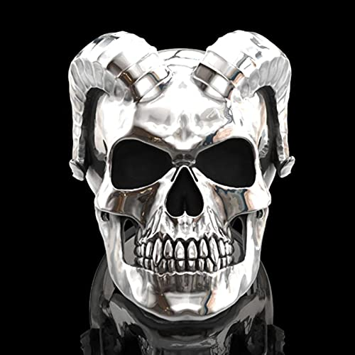 Anillo de calavera de demonio satánico gótico punk único para hombre, anillo de motociclista, regalo de joyería, anillo de moda con dedo Animal, anillo femenino para fiesta de compromiso masculino