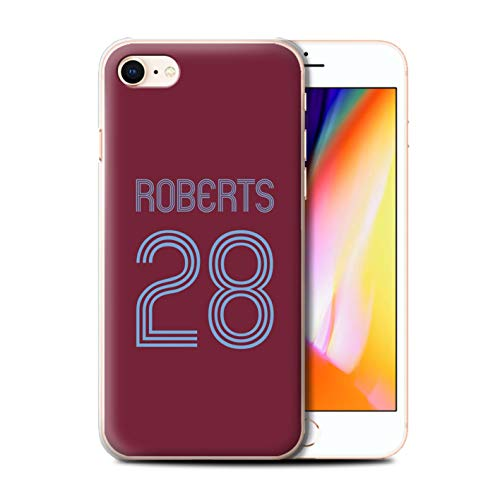 Stuff4 Telefoonhoesje/Cover/Skin/IP-CC/Custom Football Club Shirt Kit Collectie Apple iPhone SE 2020 Claret Blauw