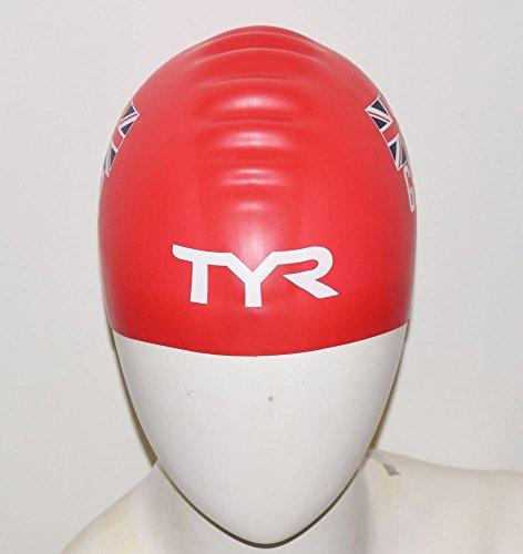 TYR Gorra de Silicona Unisex, edición Especial, Color Rojo