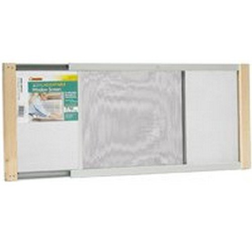 """45/""""W Extends From 25/"""" To 45/""""W Steel C Marvin Adjustable Window Screen 15/"""" Tall"""