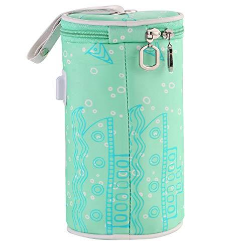 Ueohitsct Portátil USB Calefacción Bebé Botella Calentador Bolsa de Viaje Coche Bebé Botella Calentador Bebida Caliente Leche Aislamiento
