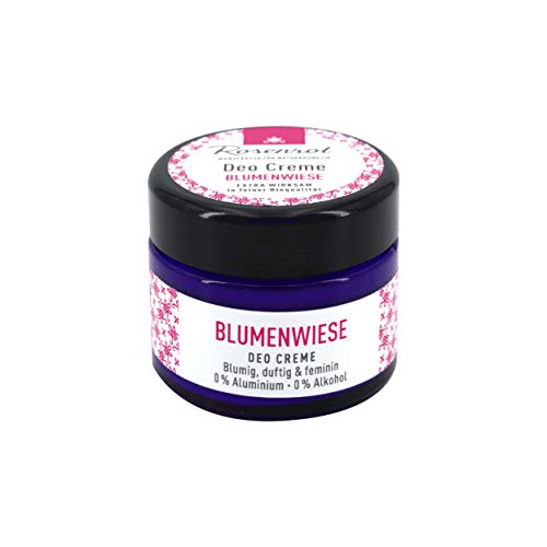 Rosenrot Naturkosmetik - Deo Creme - Blumenwiese - blumig, duftig und feminin - 0% Aluminium - 0% Alkohol - VEGAN