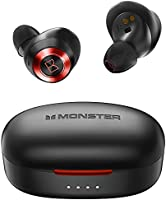 Monster Wireless Earbuds, Bluetooth Earbuds with Wireless Charging Case, TWS Stereo in-Ear Headphones, Hands-Free...